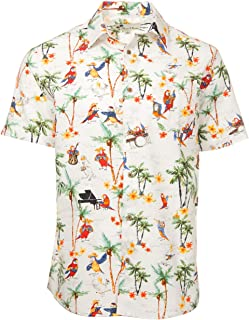 Oliver & Burke The Perfect Tropical Shirts for Men Short Sleeve Cotton Button Down