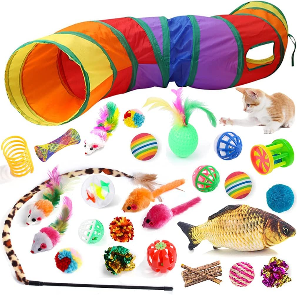 32 PCS Cat Ultra-Cheap Deals Toys Kitten Tunnel Upgraded 40% OFF Cheap Sale Tunnels Toy S-Shape