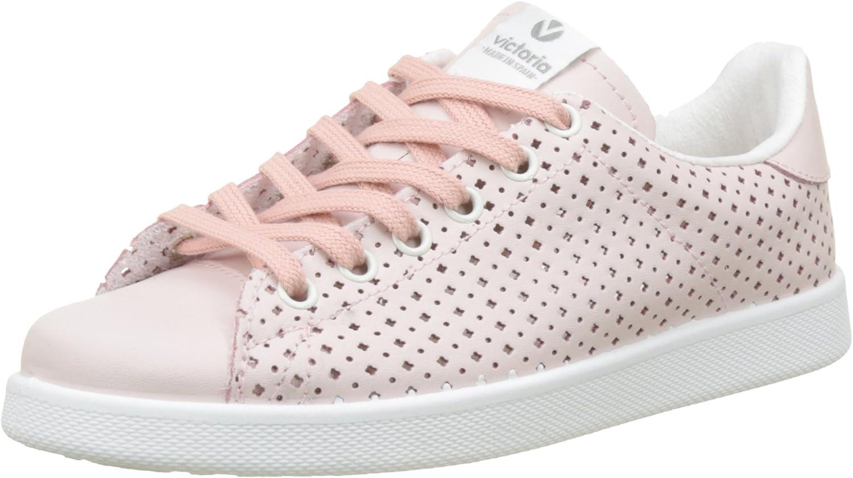 Victoria Unisex Adults' Deportivo Piel Perforado Trainers, Pink