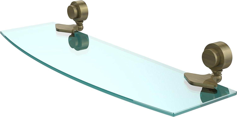 Allied Brass 433 18-ABR 18  x 5  Beveled Glass Shelf Antique Brass
