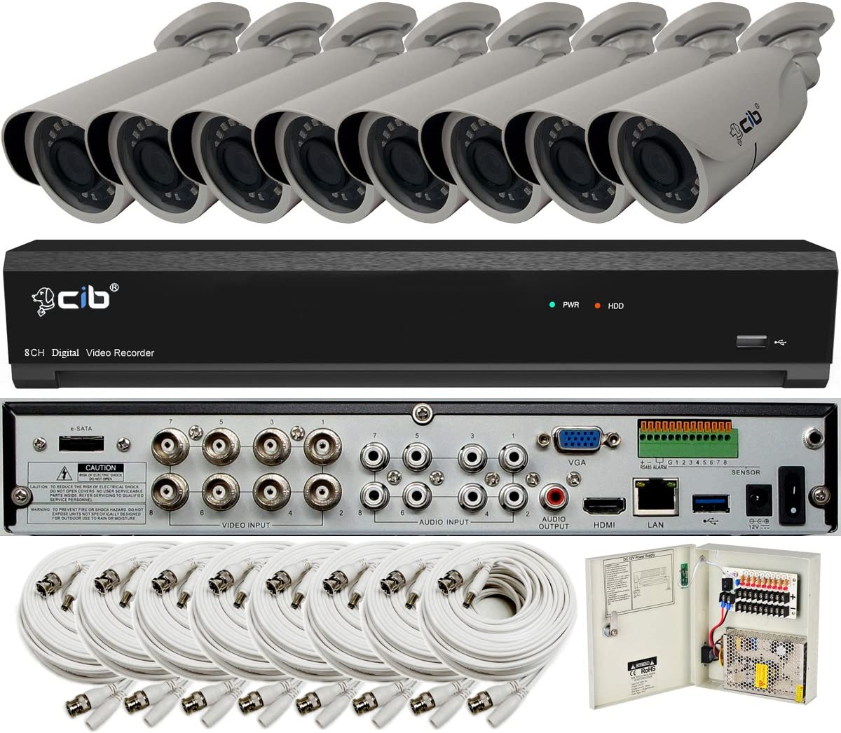 CIB TAJ5MP08K2T56W-8KIT-W shopping True HD 8CH H 5MP OFFicial mail order 2560x1944 Recording