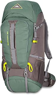 High Sierra Pathway Internal Frame Hiking Backpack 60L - Internal Frame Backpack with Hydration Port - Compatible with 3-Liter Hydration Reservoir - for Hiking, Camping, or Trekking Adventure