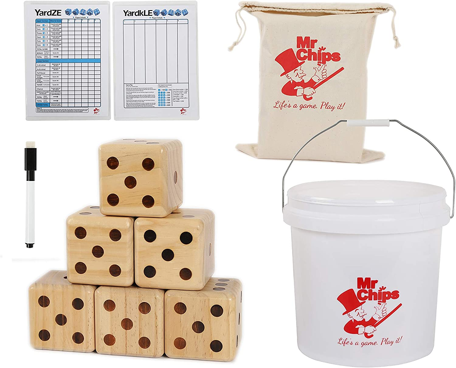 MR CHIPS Lawn Dice Scoreboard Bonus Max 81% OFF 4 years warranty and with