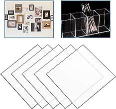 HENGMEI 5x Polycarbonat Platte 40 x 40cm Transparent PC Scheibe 2 mm stark Bruchfest Kunststoffglas Ersatzglas Zuschnitt Polystyrol