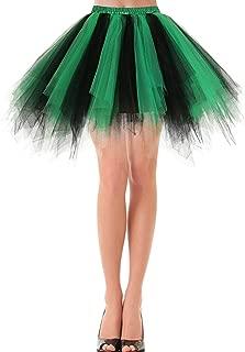 Bbonlinedress Women's Christmas Tutu Costume 1950s Vintage Petticoat Puffy Ballet Bubble Tulle Skirt