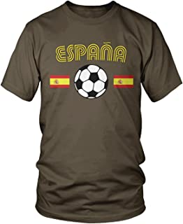 Amdesco Men's Spain Soccer Flags, Love Espana Football T-Shirt