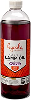Hyoola Candles Liquid Paraffin Lamp Oil - Purple Smokeless, Odorless, Ultra Clean Burning Fuel for Indoor and Outdoor Use - Highest Purity Available - 32oz