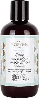 Mabyen Baby Kinder Shampoo & Waschlotion - 200 ml Zertifizierte Naturkosmetik Vegan Natrue Tränenlos Leicht Kämmbar Parfümfrei