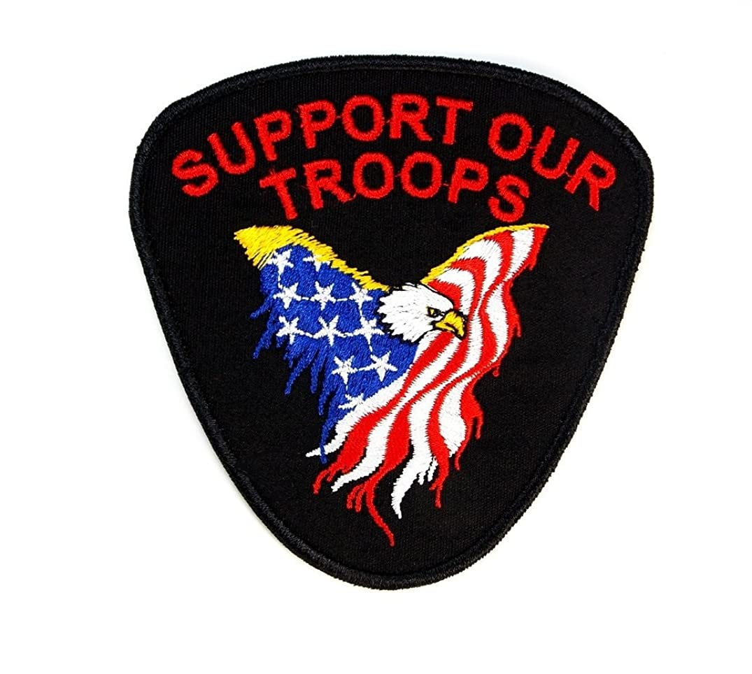 Support Our Troops Veterans Embroidered Military Patch Iron Sew PWPM5005