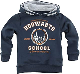 HARRY POTTER Hogwarts School Unisex Sudadera con Capucha Azul Marino 128