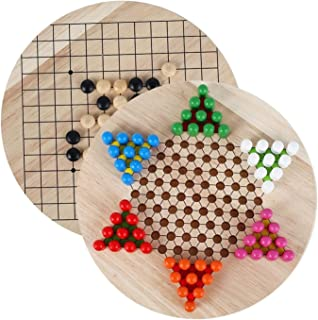 Chess Board 2In1 Chinese Checker Game Strategy Family Game Pieces Backgammon Wooden Educational Board Kid Classic Halma Ch...