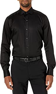 Buttoned Down Mens Tailored-fit French Cuff Micro Twill Non-Iron Dress Shirt