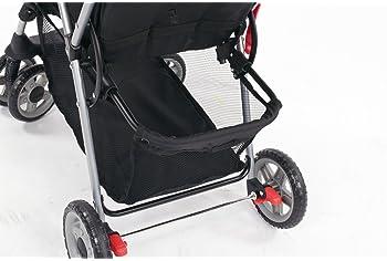 Kolcraft Cloud Plus Lightweight Easy Fold Compact Travel Stroller, Slate Grey