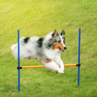 Goolsky Outdoor Pet Dog Agility Sports Games Training Equipment Dogs Jump Hurdle Bar Obedience Show Activity Agility Exerc...