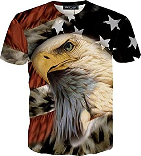 Bald Eagle With American Flag Wings
