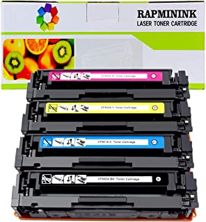 RapmininK Replacement for 202A CF500A CF501A CF502A CF503A Compatible Toner Cartridge for Color Laserjet Pro M254dw, M254nw, MFP M281fdw, MFP M281cdw, MFP M281fdn, MFP M281dw, MFP M280-4 Pack