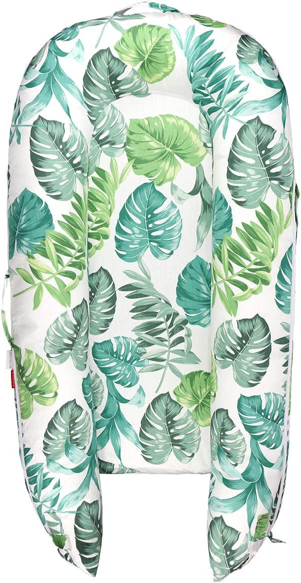 Fits All DockATot Docks   Blue Green Leaves 100/% Cotton Baby Nest Replacement Cover HUGGLER Baby Lounger Cover for DockATot Deluxe Hypoallergenic   Cover only