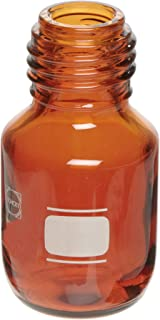 Chemglass CLS-1175-2L Amber Glass 2L Schott Media Storage Bottle, with GL-45 GPI Thread (Case of 10)