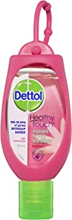 Dettol Healthy Touch Instant Hand Sanitiser Soothe with Chamomile Pink Clip, 50 milliliters