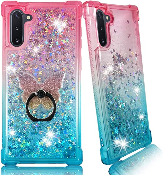 Galaxy Note 10 Case Case for Samsung Galaxy Note 10 6.3 inch with Kickstand Ring Holder Flash Rhinestone Diamond Sparkle Bling Glitter Cute Cover for Woman Girls