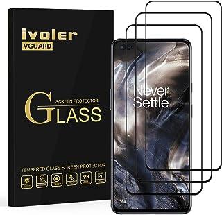 ivoler 3-pack skärmskydd för OnePlus Nord 5G / OnePlus Nord 2 5G, [Full Coverage] härdad glasfilm för OnePlus Nord 5G / On...