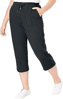 Woman Within Women's Plus Size Sport Knit Capri Pant