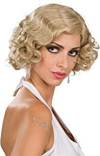 Costume Roaring 20S Mixed Blond Flapper Wig