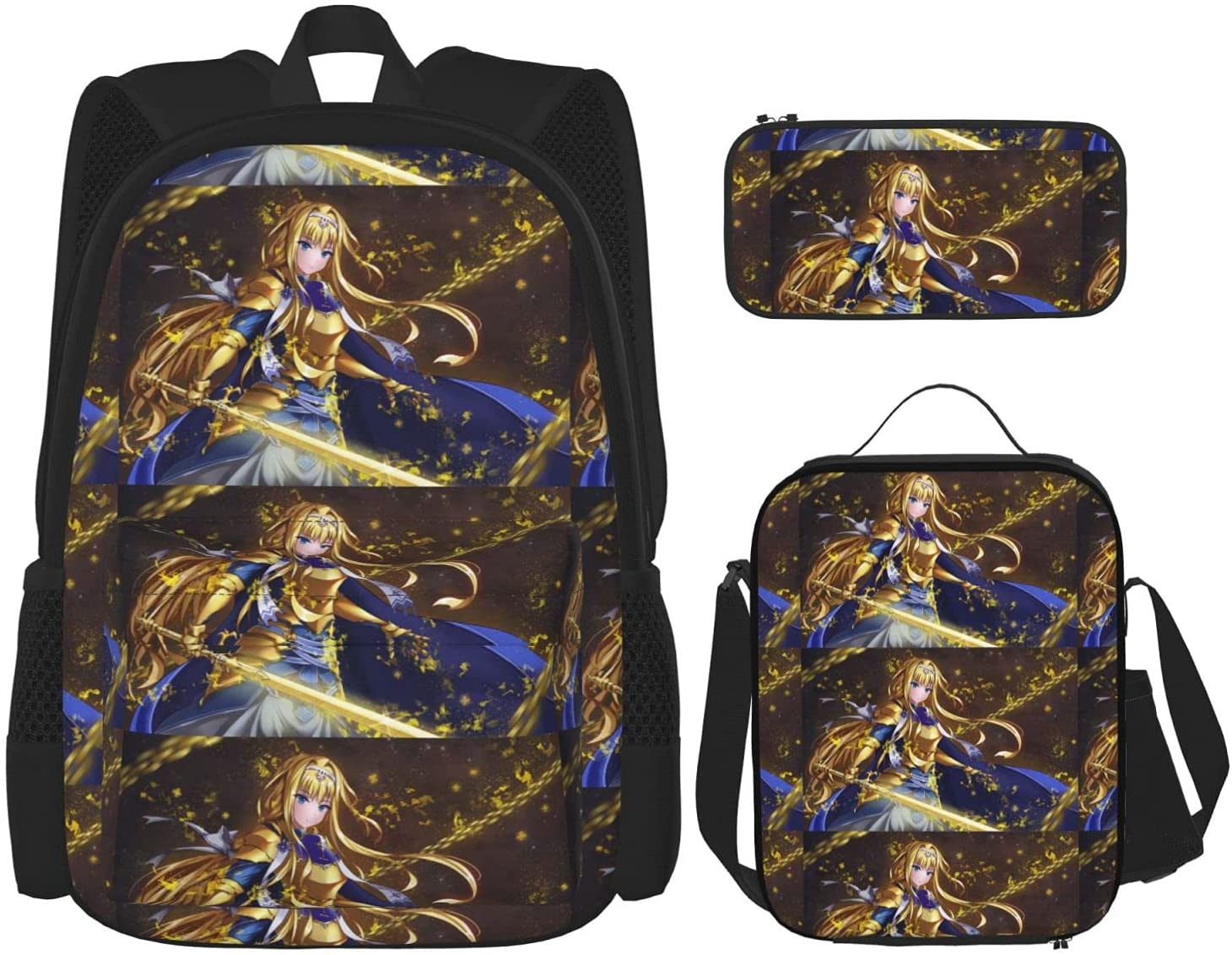 Fate Zero Fees free Saber Anime Backpack 3 Set Ca Shipping included Piece + Pencil