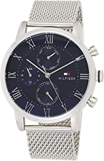 Tommy Hilfiger 1791398 Mens Quartz Watch, Analog Display and Stainless Steel Strap, Blue