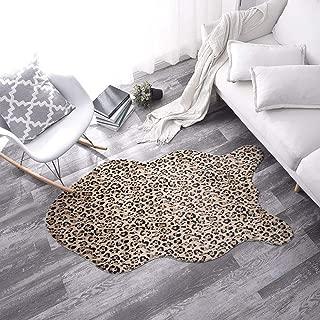Pinkday Leopard Area Rug Carpet Shag Rug Foot Pad Antiskid Mat Plush Carpet (2x3 feet)