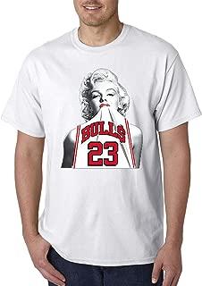 Trendy USA 193 - Unisex T-Shirt Marilyn Monroe Bulls 23 Jordan Jersey