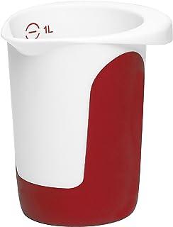 Emsa 508014 Mix & Bake Pot mixeur 1,0 L Blanc/Rouge