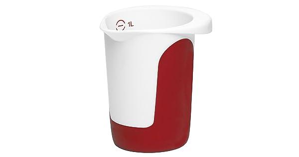 EMSA Mix /& Bake quirltopf blanco rojo rührschüssel rührbecher 508014