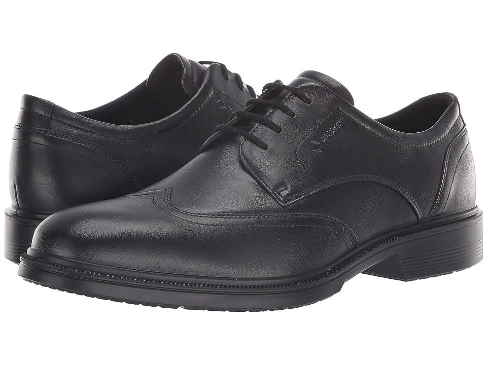 ECCO Lisbon Wingtip Gore-Tex(r) (Black) Men