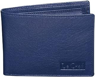 Le Craf Men's Leather Wallet (Navy Blue)