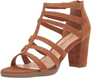 Bella Vita Women's Leah Sandal with Back Zipper Heeled