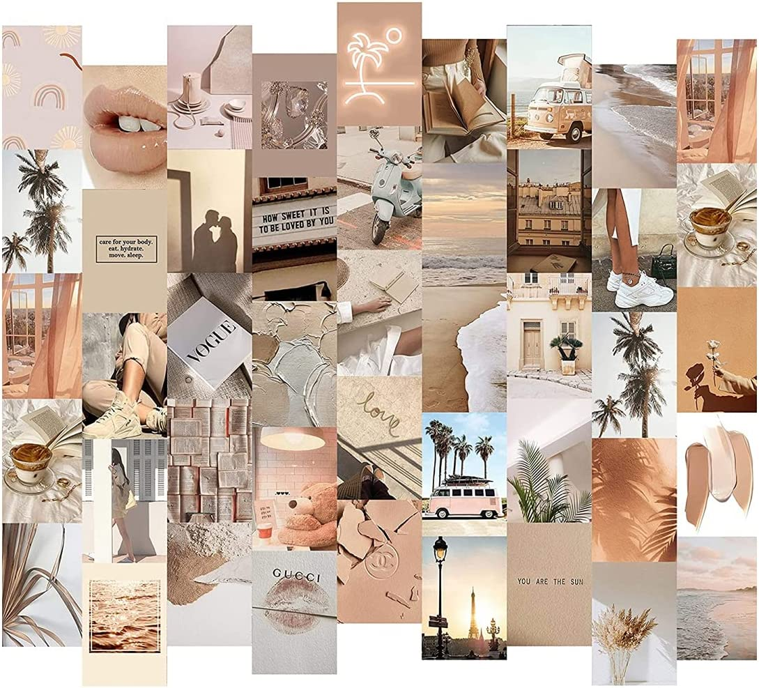50Pcs Stylish Postcard Photo Collage Set Wall Collage Kit Exqusite Aesthetic Pictures Wall Posters Bedroom Decor for Girls Women