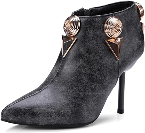ZPFME Femmes Femmes Bottines Stiletto Talons Hauts Les Les dames Bottes De Mode Bout Pointu Office Party Chaussures Taille  économiser 60% de réduction