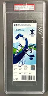 Sidney Crosby Signed 2010 Olympics Gold Medal Team Canada Gwg Ticket Slabbed - PSA/DNA Certified