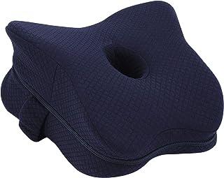 Almohada de Rodilla, Almohada ortopédica de Espuma viscoelástica para piernas para Dolor de Cadera, ciática, Dolor de piernas, Dolor de Rodillas, cojín de Pierna para Cama de Embarazo (Azul Marino)