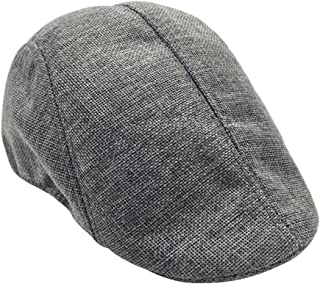 Tinksky Newsboy Hat Peaked Cap Cabbie Hat Driving Hat Irish Ivy Flat Hat for Men Women (Grey)