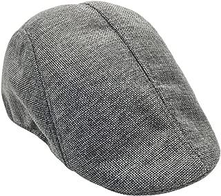 Tinksky Newsboy Hat Peaked Cap Cabbie Hat Driving Hat Irish Ivy Flat Hat for Men Women (Grey)