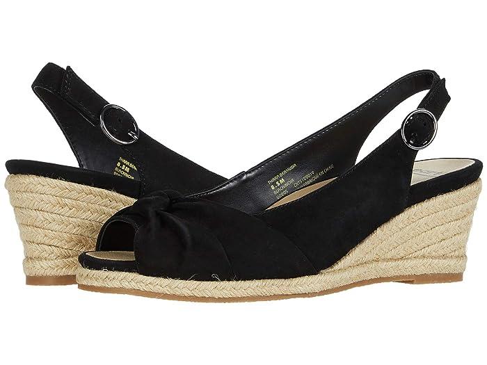 Vintage Heels, Retro Heels, Pumps, Shoes Earth Thara Bermuda Black Silky Suede High Heels $75.00 AT vintagedancer.com