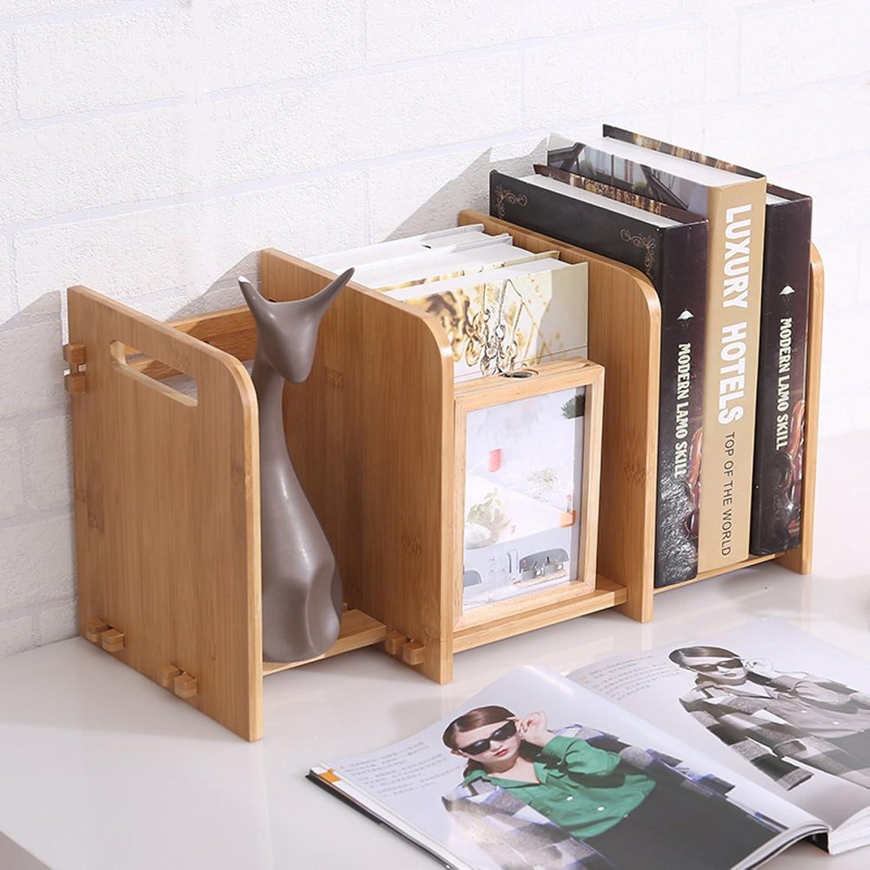 Bookshelf,Desktop Bookcase Creative Student Mini Extension Type Small Desktop Storage Rack-B 62x20x24cm(24x8x9)