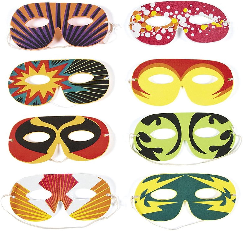 BULK BUY  96 Foam Superhero Mask Assortment for Kids Parties