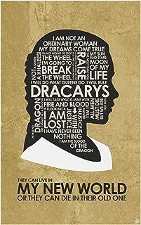 Game of Thrones, Daenerys Targaryen, My World Word Art Print Poster (12
