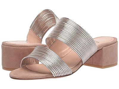 AGL Double Band Strappy Sandal (Tan & Gold) Women