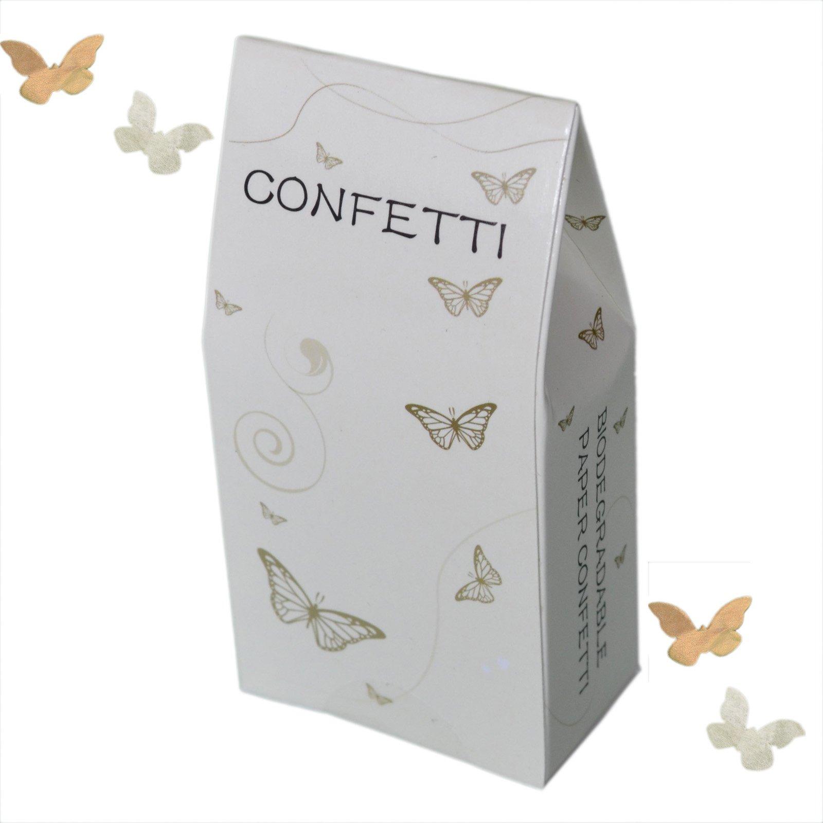Ivory & Gool -1 paquete de confeti biodegradable de mariposas ...
