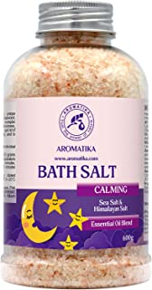 Sponsored Ad - Calming Bath Salts 600g - w/Sandalwood & Lavender & Bergamot Essential Oils - Natural Bath Sea Salts - Best...