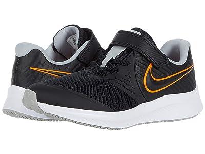 Nike Kids Star Runner 2 (Little Kid) (Black/Total Orange/White/Light Smoke Grey) Kids Shoes